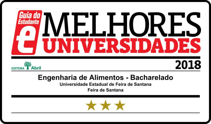 Selo dado a melhores universidades do Brasil pelo Guia do Estudante.
