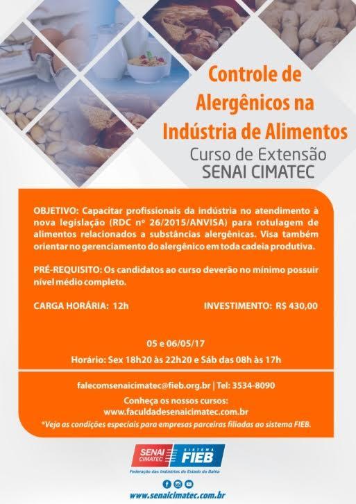 Senai - Controle de Alergenicos - Informativo
