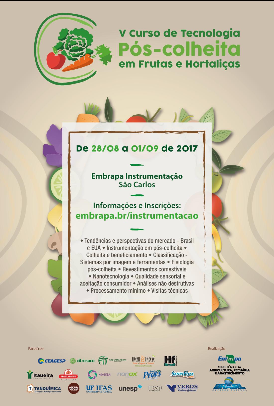 V Curso de Tecnologia Pós-colheita em Frutas e Horlaliças - Informativo