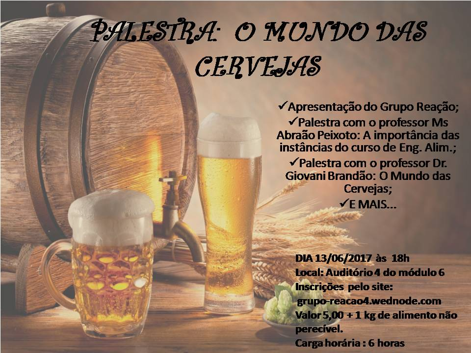 Palestra: O Mundo da Cerveja - Poster