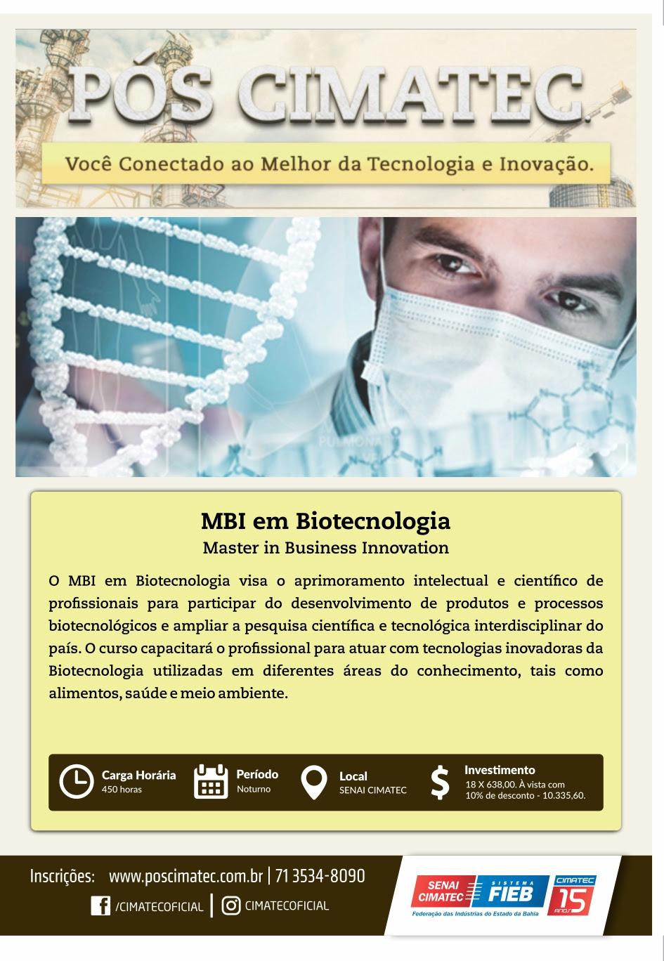 MBI em Biotecnologia