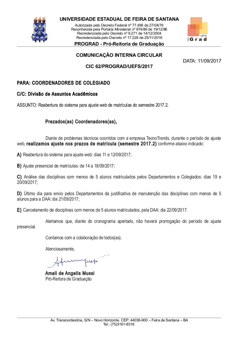 Correspondencia_CIC_62_PROGRAD_UEFS_2017_Alteracao_data_ajuste_web